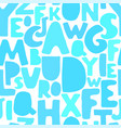 seamless background with colorful letters vector image vector image