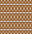 seamless brown circle Chain pattern background vector image vector image