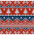 seamless ornament on the knitted texture vector image