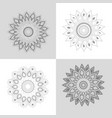 set flowers mandalar ornament decoration vector image