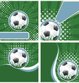 Set of soccer background in retro style vector image vector image