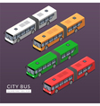 Set with city bus icons vector image vector image