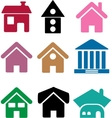 simple houses vector image vector image