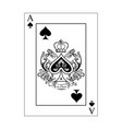 spades ace vector image vector image