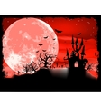 Spooky Halloween with horror house EPS 8 vector image vector image