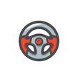 steering sport wheel icon cartoon vector image