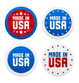 stickers with made in usa vector image