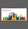 strasbourg colorful architecture vector image vector image
