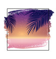summer night beach poster tropical natural vector image vector image