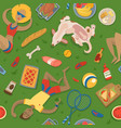 summer picnic party in park on meadow with vector image vector image