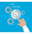 Time Planning Concept Flat Design vector image vector image