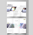 tri-fold brochure business templates on both sides vector image vector image