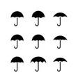 umbrella icon rain protection vector image