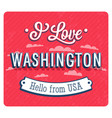 vintage greeting card from washington vector image vector image