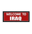 welcome to iraq travel sticker or stamp vector image