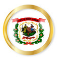 west virginia flag button vector image vector image