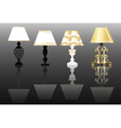 Classic lamp set with ornaments vector image