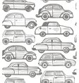 seamless background with retro cars vector image