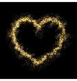 gold shiny heart vector image