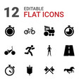 12 race icons vector image vector image
