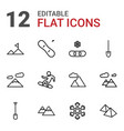 12 snow icons vector image vector image