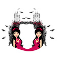 abstract frame of a beautiful female vampire vector image