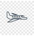 airplane concept linear icon isolated on vector image