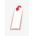 arrow and paper with shadow vector image vector image
