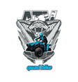 atv quad bike with snake in background vector image vector image