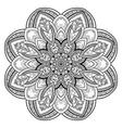 Beautiful Deco Black Mandala vector image vector image