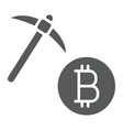 bitcoin mining glyph icon money and finance vector image vector image