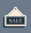 black hanging sign with text sale icon isolated on vector image vector image