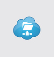 Blue cloud net folder icon vector image