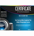 certificate of achievement for online photography