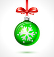 Christmas balls holiday background ribbon new vector image