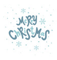 christmas letering vector image