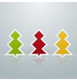 Colored Fir-Trees Object Set of Two vector image