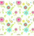 colorful flowers spring seamless pattern vector image vector image