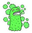 comic cartoon funny ghost vector image vector image