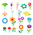 cute colorful flower on white background vector image vector image