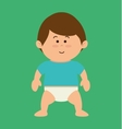 cute little baby character vector image