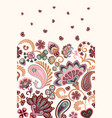 damask style paisley floral vertical seamless vector image vector image