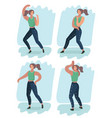dancer woman dancing in pose or position vector image