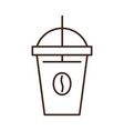 disposable coffee cup isolated linear icon vector image vector image