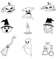 Doodle of Halloween character vector image vector image