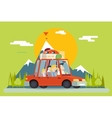 Family Father Mother Son Daughter Travel Lifestyle vector image vector image