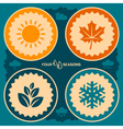 Four seasons design vector image