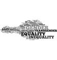 gender word cloud concept vector image vector image
