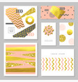 golden glitter gift greeting cards templates vector image