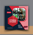gym fitness promotion media social post templates vector image vector image